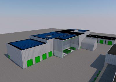 Uitbreiding industriegebouw achterzijde